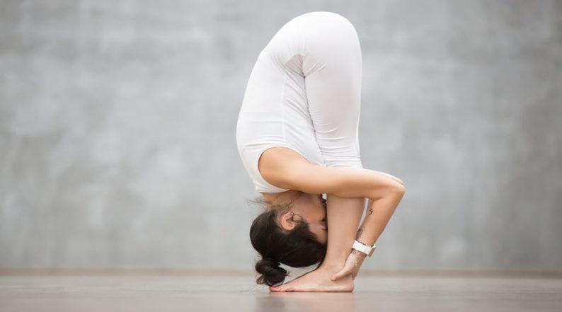 Intense-Forward bend pose (Uttanasana)
