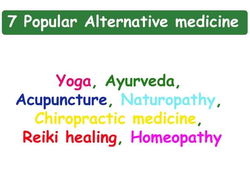7 popular alternative medicine