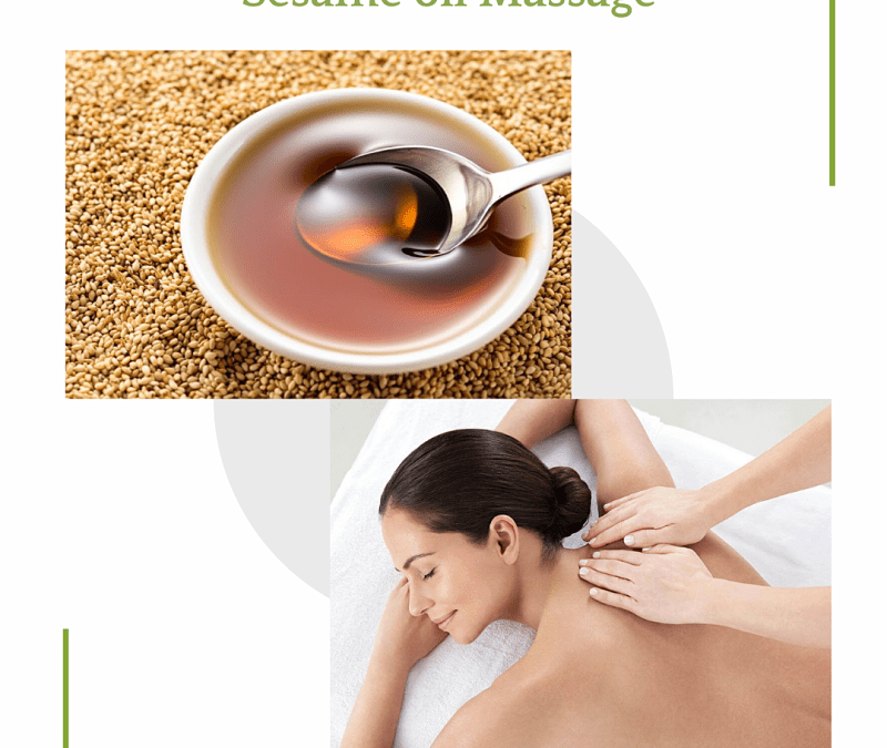 Whole body massage with sesame oil