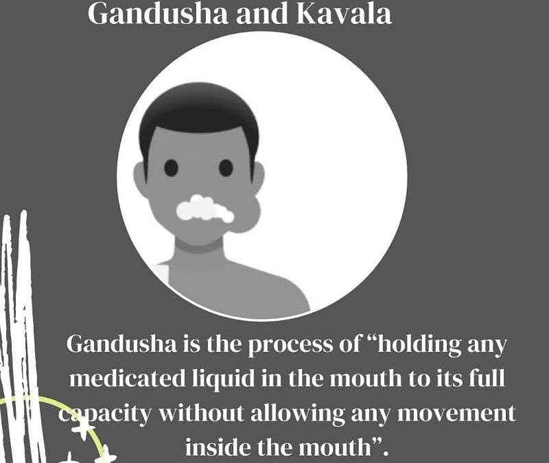 Gandusha and Kavala in Ayurveda